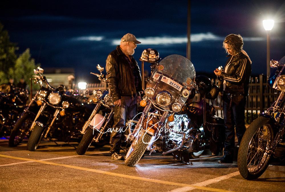 Laconia's Motorcycle Week 2013 after the sun went down.  Karen Bobotas Photographer