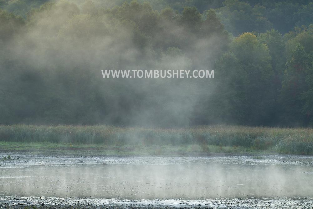 Goshen, New York -  Early  morning fog at the 6 1/2 Station Road Wildlife Sanctuary on Sept. 24, 2014.