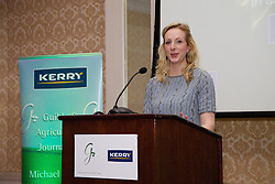 23/10/2015<br /> 10/23/2015<br /> 23 October 2015<br />  Guild of Agricultural Journalists &ndash; Michael Dillon Lecture at the Shelbourne Hotel, Dublin. For Farmer's Journal. <br /> Oonagh O'Mahony, speaking at the event.