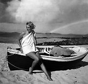 Unidentified female on beach