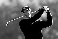 14 December 2007: Pro PGA golfer Tiger Woods participates in the ninth annual Target World Challenge golf tournament presented by the Tiger Woods Foundation at Sherwood Country Club in Thousand Oaks Westlake Village in Southern California. Black and White color conversion.