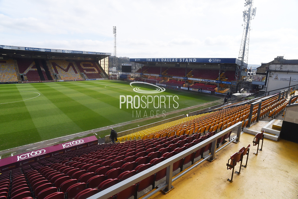 General view of the Northern Commercials Stadium before the EFL Sky Bet League 1 match between Bradford City and Doncaster Rovers at the Northern Commercials Stadium, Bradford, England on 6 April 2019.*** during the EFL Sky Bet League 1 match between Bradford City and Doncaster Rovers at the Northern Commercials Stadium, Bradford, England on 6 April 2019.