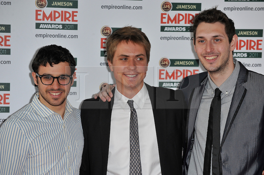 © under license to London News Pictures. The Inbetweeners cast pose for photographs at the arrivals for this years Empire Film Awards at The Grosvenor House Hotel in London .Photo credit should read Theodore Wood/LNP