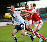 Dundee's Cammy Kerr and Rotherham United's Mason Warren - Dundee v Rotherham United - pre-season friendly at Dens Park <br /> <br />  - &copy; David Young - www.davidyoungphoto.co.uk - email: davidyoungphoto@gmail.com