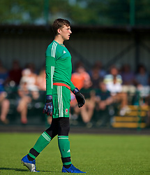 WREXHAM, WALES - Monday, July 22, 2019: South goalkeeper Kane Draper during the Welsh Football Trust Cymru Cup 2019 at Colliers Park. (Pic by Paul Greenwood/Propaganda)