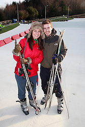 No fee for Repro: 22.01.2012.Laura Taylor and Alan Kinsella are pictured during World Snow Day at the Ski Club of Ireland in Kilternan who hosted a festival day of snowsports activities. Pic Andres Poveda.