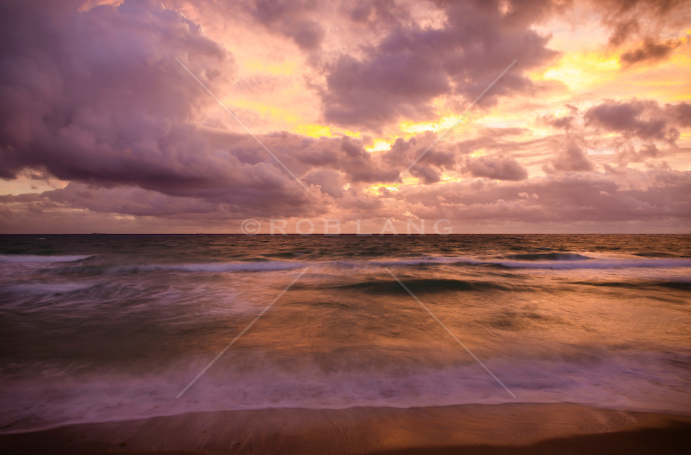 sunrise over the ocean in Fort Lauderdale, Florida