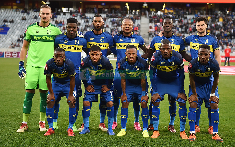 Cape Town-180804 Cape Town City starting line-up against Supersport in the first game of the 2018/2019 season at Cape Town Stadium.photograph:Phando Jikelo/African News Agency/ANAr