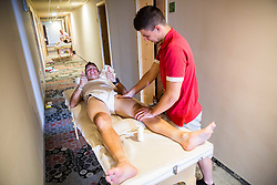 Jon Bozic (SLO) of KK Adria Mobil having a massage after the Stage 3 of 24th Tour of Slovenia 2017 / Tour de Slovenie from Celje to Rogla (167,7 km) cycling race on June 16, 2017 in Hotel Natura, Rogla, Slovenia. Photo by Vid Ponikvar / Sportida