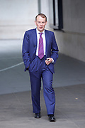 Andrew Marr Show <br /> at the BBC, Broadcasting House, London, Great Britain <br /> 3rd September 2017 <br /> <br /> Andrew Marr leaves the BBC after the Andrew Marr Show <br /> <br /> Photograph by Elliott Franks <br /> Image licensed to Elliott Franks Photography Services