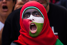 2014-08-01 Palestinians demonstrate at Israeli embassy as Gaza ceasefire collapses