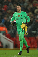 Football - 2019 / 2020 UEFA Champions League - Round of Sixteen, Second Leg: Liverpool (0) vs. Atletico Madrid (1)<br /> <br /> Liverpool's Adrian , at Anfield.<br /> <br /> <br /> COLORSPORT/TERRY DONNELLY