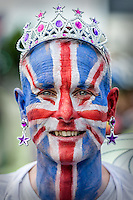 Union Jack Face to celebrate the Queens Diamond Jubilee