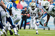 NASHVILLE, TN - SEPTEMBER 29:  Clyde Gates #19 of the New York Jets runs the ball against the Tennessee Titans at LP Field on September 29, 2013 in Nashville, Tennessee.  The Titans defeated the Jets 38-13.  (Photo by Wesley Hitt/Getty Images) *** Local Caption *** Clyde Gates