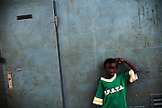 Boy aboard a ferry in Makango, northern Ghana on Thursday March 26, 2009.