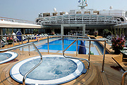 ms Nieuw Amsterdam Inaugural in Venice.<br /> <br /> Her Royal Highness Princess Máxima inaugurated on Sunday, July 4, 2010 in Venice, The cruise ship ms Nieuw Amsterdam of Holland America Line. The ship is the second in the Signature Class. The New Amsterdam, which can accommodate 2106 passengers, is built by Italiani shipbuilder Fincantieri Cantieri Navali , SpA in Marghera, Italy.<br /> <br /> On the photo:<br /> <br />   The cruise ship ms Nieuw Amsterdam of Holland America Line.
