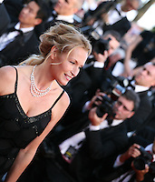 Estelle Lefebure at the On The Road gala screening red carpet at the 65th Cannes Film Festival France. The film is based on the book of the same name by beat writer Jack Kerouak and directed by Walter Salles. Wednesday 23rd May 2012 in Cannes Film Festival, France.