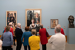 Visitors on guided tour at the Museum Boijmans van Beuningen in Rotterdam The Netherlands