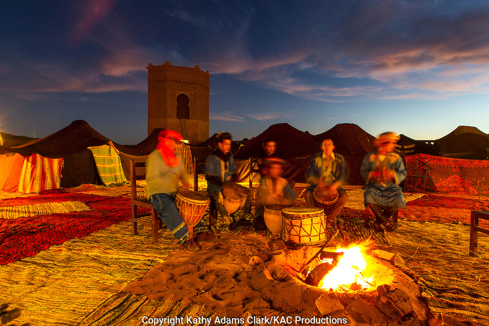 Ishmal drumming in the Sahara Desert in Morocco