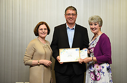 Lincolnshire Co-operative long service awards 2017 held at The Showroom, Lincoln.  Pictured, from left, Lincolnshire Co-operative chief executive Ursula Lidbetter, Nicholas Wood (25 years - Lincoln Transport) and Lincolnshire Co-operative president Julia Romney.<br /> <br /> Picture: Jane Harrison<br /> Date: September 20, 2017