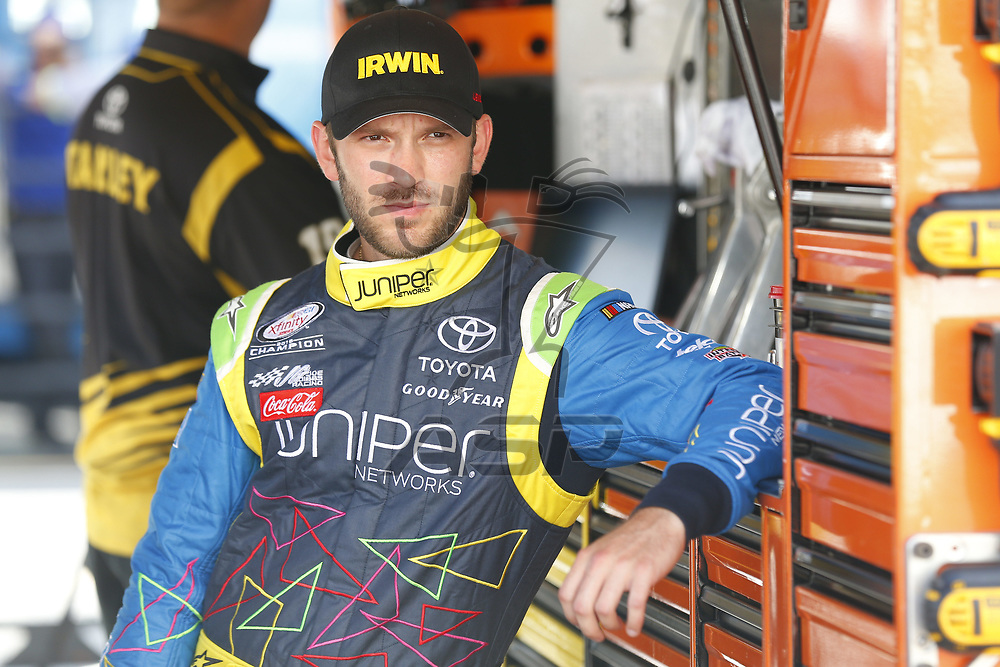 August 18, 2017 - Bristol, Tennessee, USA: Daniel Suarez (19) hangs out on pit road prior to qualifying for the Bass Pro Shops NRA Night Race at Bristol Motor Speedway in Bristol, Tennessee.