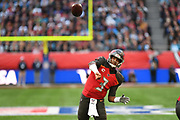 Tampa Bay Buccaneers QuarterbackJ ameis Winston (3) throws a pass during the International Series match between Tampa Bay Buccaneers and Carolina Panthers at Tottenham Hotspur Stadium, London, United Kingdom on 13 October 2019.