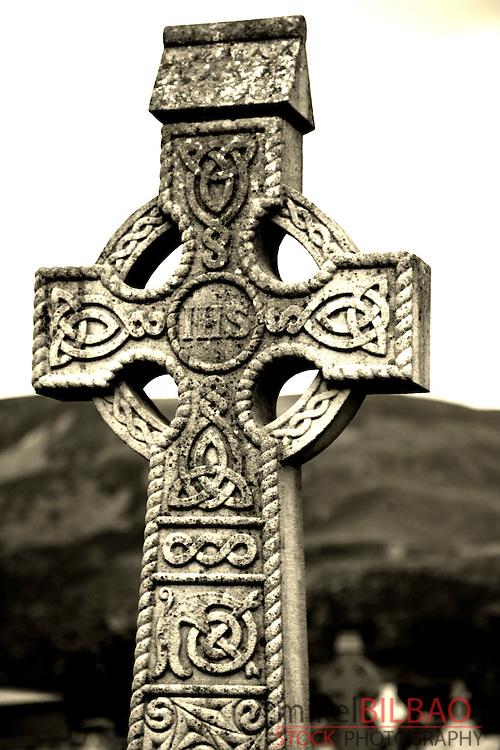 Celtic Cross.<br /> Glencolumbkille, County Donegal, Republic of Ireland.