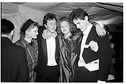 Sarah Hamilton, David Cameron, Francesca Ferguson and Tim Murphy. Valentine Ball. Oxford Union. 14 February 1987. . SUPPLIED FOR ONE-TIME USE ONLY> DO NOT ARCHIVE. © Copyright Photograph by Dafydd Jones 66 Stockwell Park Rd. London SW9 0DA Tel 020 7733 0108 www.dafjones.com