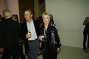 Michael and Pat York, Burberry celebrates the opening of the Hockney exhibition and their 150th anniversary with a party at the National Portrait Gallery. 11 October 2006. -DO NOT ARCHIVE-© Copyright Photograph by Dafydd Jones 66 Stockwell Park Rd. London SW9 0DA Tel 020 7733 0108 www.dafjones.com