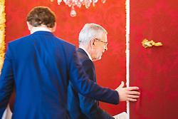 21.05.2019, Praesidentschaftskanzlei, Wien, AUT, Treffen von Bundespraesident Alexander van der Bellen mit Sebastian Kurz (OeVP), im Bild v. l. Sebastian Kurz (OeVP), Bundespraesident Alexander van der Bellen// during a metting between the president Alexander van der Bellen and Sebastian Kurz (OeVP) at the presidents office in Vienna, Austria on 2019/05/21. EXPA Pictures © 2019, PhotoCredit: EXPA/ Florian Schroetter