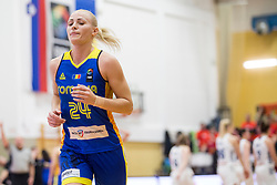 Ancuta Stoenescu of Romania during basketball match between National teams of Slovenia and Romania in 4. round of FIBA Women's EuroBasket 2019 Qualifiers, on February 14, 2018 in Dvorana Gimnazija Celje - Center, Slovenia. Photo by Urban Urbanc / Sportida