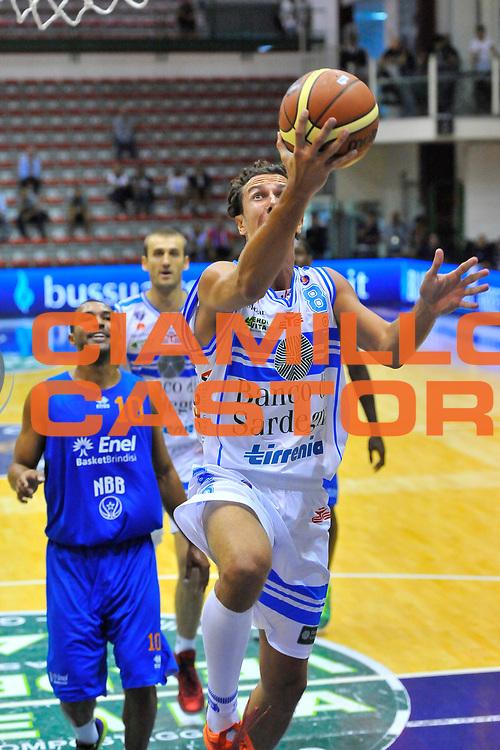 DESCRIZIONE : Torneo Citt&agrave; di Sassari &quot;Mim&igrave; Anselmi&quot; Dinamo Banco di Sardegna Sassari - Enel Brindisi<br /> GIOCATORE : Giacomo Devecchi<br /> CATEGORIA : Tiro Penetrazione<br /> SQUADRA : Dinamo Banco di Sardegna Sassari<br /> EVENTO :  Torneo Citt&agrave; di Sassari &quot;Mim&igrave; Anselmi&quot; <br /> GARA : Dinamo Banco di Sardegna Sassari - Enel Brindisi<br /> DATA : 13/09/2014<br /> SPORT : Pallacanestro <br /> AUTORE : Agenzia Ciamillo-Castoria / Luigi Canu<br /> Galleria : Precampionato 2014/2015<br /> Fotonotizia : Torneo Citt&agrave; di Sassari &quot;Mim&igrave; Anselmi&quot; Dinamo Banco di Sardegna Sassari - Enel Brindisi<br /> Predefinita :