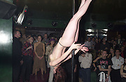 Stripper, party for artist Maria Marshall hosted by Dorothee de Pau. The Astral, Brewer St. London. 25 November 2000<br />  © Copyright Photograph by Dafydd Jones 66 Stockwell Park Rd. London SW9 0DA Tel 020 7733 0108 www.dafjones.com