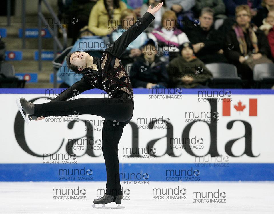 London, Ontario ---10-01-15--- Patrick Chan skates his short program at the 2010 BMO Canadian Figure Skating Championships in London, Ontario, January 15, 2010. .GEOFF ROBINS/Mundo Sport Images..