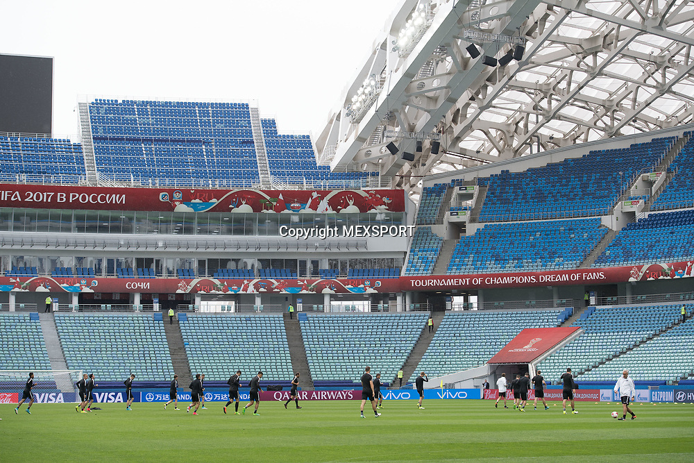 Action photo, Training session, New Zealand Team ahead of their match with Mexio, Group A, FIFA Confederations Cup Russia 2017 at Olimpiyskiy Stadion Fisht, Sochi, Russia. 20 June 2017. Image: MEXSPORT/David Leah / www.photosport.nz