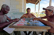 Playing dominoes at the train station in Candelaria, Artemisa, Cuba.