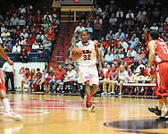 """Ole Miss' Jarvis Summers (32) vs. Illinois State in a National Invitational Tournament game at the C.M. """"Tad"""" Smith Coliseum in Oxford, Miss. on Wednesday, March 14, 2012. (AP Photo/Oxford Eagle, Bruce Newman)"""