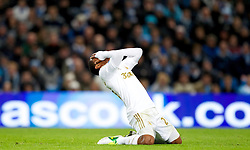 27.10.2012, Etihad Stadion, Manchester, ENG, Premier League, Manchester City vs Swansea City, 9. Runde, im Bild Swansea City's Jonathan de Guzman looks dejected during the English Premier League 9th round match between Manchester City and Swansea City AFC at the Etihad Stadium, Manchester, Great Britain on 2012/10/27. EXPA Pictures © 2012, PhotoCredit: EXPA/ Propagandaphoto/ David Rawcliffe..***** ATTENTION - OUT OF ENG, GBR, UK *****