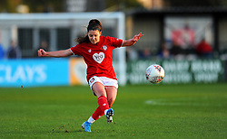 Carla Humphrey of Bristol City in action- Mandatory by-line: Nizaam Jones/JMP - 27/10/2019 - FOOTBALL - Stoke Gifford Stadium - Bristol, England - Bristol City Women v Tottenham Hotspur Women - Barclays FA Women's Super League