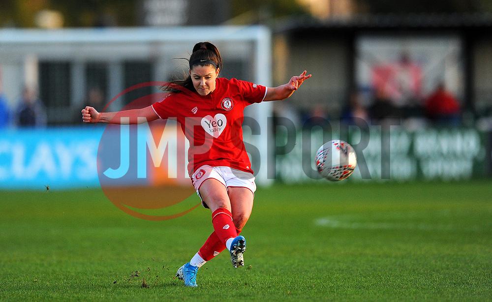 Carla Humphrey of Bristol City in action- Mandatory by-line: Nizaam Jones/JMP - 27/10/2019 - FOOTBALL - Stoke Gifford Stadium - Bristol, England - Bristol City Women v Tottenham Hotspur Women - Barclays FA Women's Super League