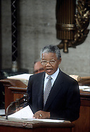 A 24 MG IMAGE OF:<br /> Nelson Mandela speaking before a joint session of congress in June 1990<br /> <br /> <br /> <br /> <br /> Photograph by Dennis Brack  bsb12
