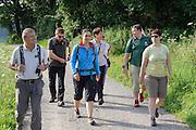geführte Gruppenwanderung mit Ranger bei Wald-Michelbach, Odenwald, Hessen, Deutschland