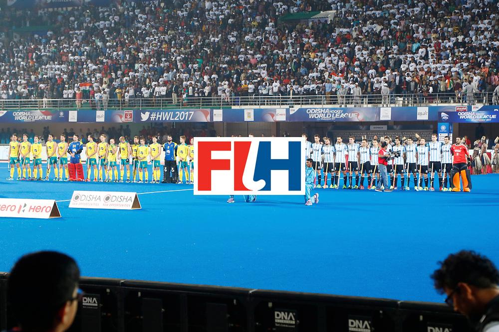 Odisha Men's Hockey World League Final Bhubaneswar 2017<br /> Match id:22<br /> Argentina v Australia<br /> Foto: Line Up<br /> WORLDSPORTPICS COPYRIGHT KOEN SUYK