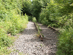Old railway track at site of former Gedling Colliery, Nottinghamshire
