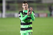 Forest Green Rovers Luke James(33) during the The FA Cup match between Forest Green Rovers and Exeter City at the New Lawn, Forest Green, United Kingdom on 2 December 2017. Photo by Shane Healey.