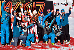 09.03.2017, Are, SWE, FIS Ski Alpin Junioren WM, Are 2017, Super G, Damen, im Bild Podie Ladies, Tripple Austria Franziska Gritsch, Nadine Fest och Dajana Dengsherz. // during ladie's SuperG of the FIS Junior World Ski Championships 2017. Are, Sweden on 2017/03/09. EXPA Pictures © 2017, PhotoCredit: EXPA/ Nisse<br /> <br /> *****ATTENTION - OUT of SWE*****