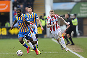 42 Anthony Grant for Shrewsbury Town during the The FA Cup 3rd round match between Shrewsbury Town and Stoke City at Greenhous Meadow, Shrewsbury, England on 5 January 2019.