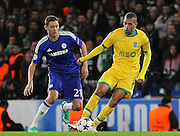Sporting Lisbon's Islam Slimani during the UEFA Champions League match between Chelsea and Sporting Lisbon at Stamford Bridge, London, England on 10 December 2014.