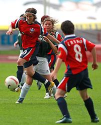 Mateja Zver (10) of Pomurje at final game of NZS women football cup between ZNK Pomurje vs ZNK Krka, on June 4, 2008, at ZAK stadium in Ljubljana, Slovenia. Krka won the match 4:1 and became Slovenian Cup Champion. (Photo by Vid Ponikvar / Sportal Images)
