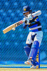 August 11, 2018 - Colombo, Sri Lanka - Sri Lankan cricketer Kusal Mendis   plays a shot during a practice session ahead of the 5th One Day International against the South Africa at R. Premadasa International Cricket Stadium, Colombo, Sri Lanka on Saturday 11 August 2018  (Credit Image: © Tharaka Basnayaka/NurPhoto via ZUMA Press)